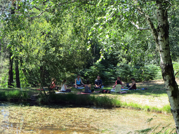 week-end yoga nature dordogne